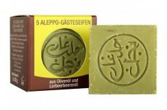 Mini mydełka oliwkowo-laurowe Aleppo (Najel), 5 x 20 g